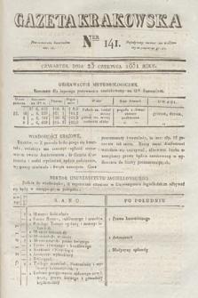 Gazeta Krakowska. 1831, nr141