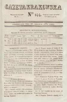 Gazeta Krakowska. 1831, nr144
