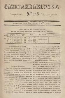 Gazeta Krakowska. 1831, nr146