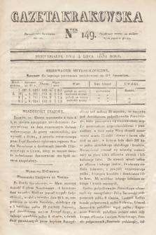Gazeta Krakowska. 1831, nr149