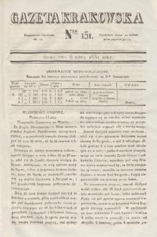 Gazeta Krakowska. 1831, nr151