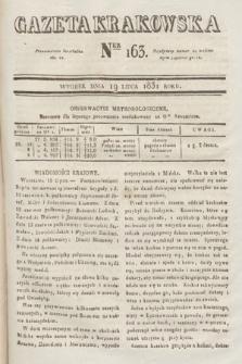 Gazeta Krakowska. 1831, nr163