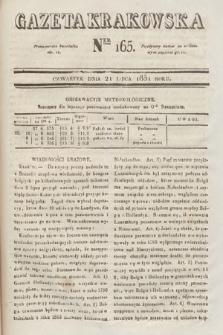 Gazeta Krakowska. 1831, nr165