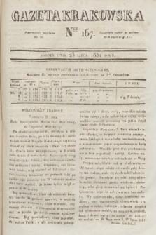 Gazeta Krakowska. 1831, nr167