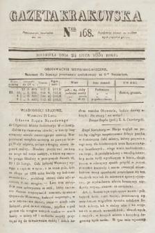 Gazeta Krakowska. 1831, nr168