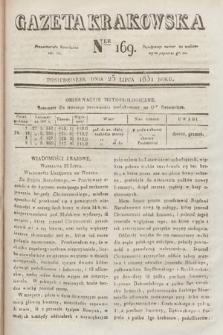 Gazeta Krakowska. 1831, nr169