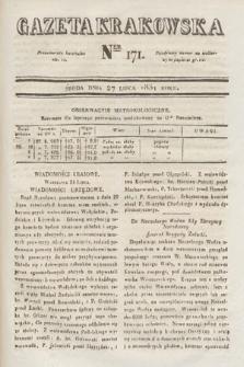 Gazeta Krakowska. 1831, nr171