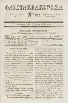 Gazeta Krakowska. 1831, nr172