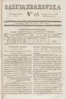 Gazeta Krakowska. 1831, nr175
