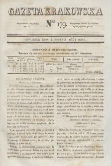 Gazeta Krakowska. 1831, nr179
