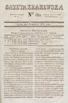 Gazeta Krakowska. 1831, nr180