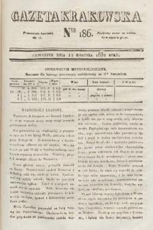 Gazeta Krakowska. 1831, nr186