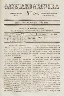 Gazeta Krakowska. 1831, nr187