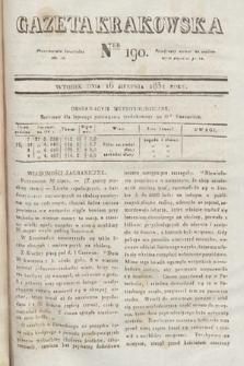 Gazeta Krakowska. 1831, nr190