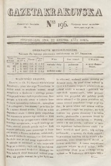 Gazeta Krakowska. 1831, nr196