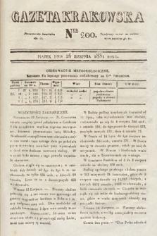 Gazeta Krakowska. 1831, nr200