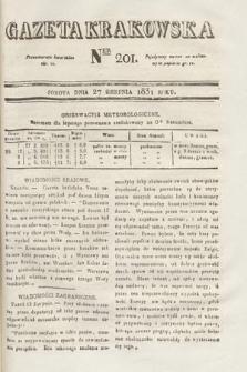 Gazeta Krakowska. 1831, nr201