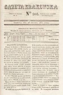 Gazeta Krakowska. 1831, nr202