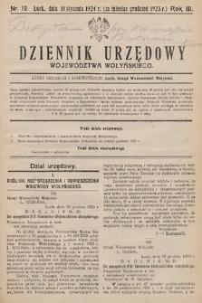 Dziennik Urzędowy Województwa Wołyńskiego. R.3, 1923/1924, nr12