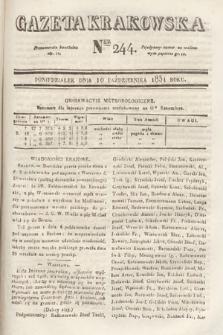 Gazeta Krakowska. 1831, nr244