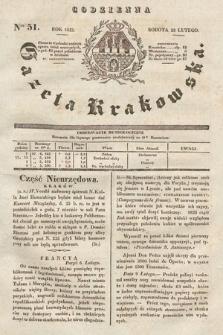 Codzienna Gazeta Krakowska. 1833, nr51