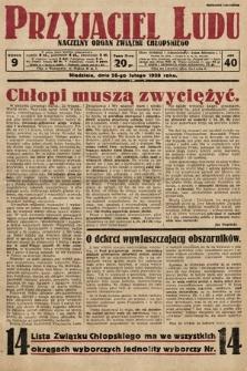 Przyjaciel Ludu : naczelny organ Związku Chłopskiego. 1928, nr9