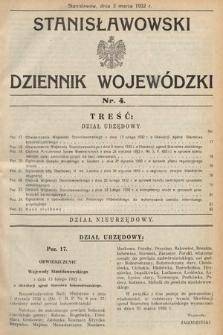 Stanisławowski Dziennik Wojewódzki. 1932, nr4