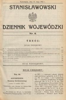 Stanisławowski Dziennik Wojewódzki. 1932, nr8