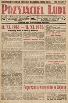 Przyjaciel Ludu. 1928, nr47