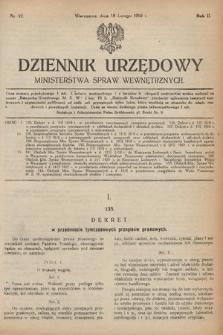 Dziennik Urzędowy Ministerstwa Spraw Wewnętrznych. 1919, nr12