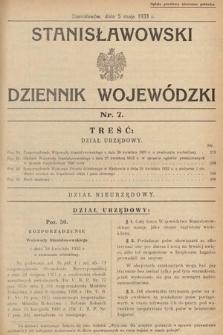 Stanisławowski Dziennik Wojewódzki. 1933, nr7