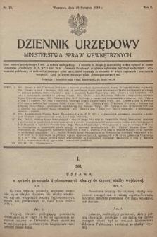 Dziennik Urzędowy Ministerstwa Spraw Wewnętrznych. 1919, nr29