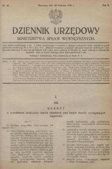 Dziennik Urzędowy Ministerstwa Spraw Wewnętrznych. 1919, nr30
