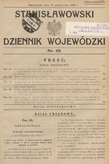Stanisławowski Dziennik Wojewódzki. 1934, nr26