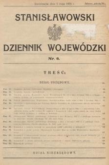 Stanisławowski Dziennik Wojewódzki. 1935, nr6