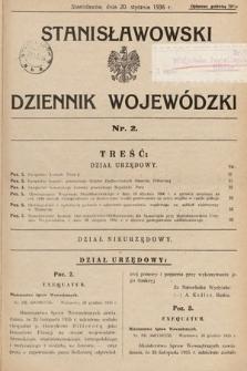 Stanisławowski Dziennik Wojewódzki. 1936, nr2