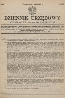 Dziennik Urzędowy Ministerstwa Spraw Wewnętrznych. 1920, nr2