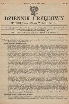 Dziennik Urzędowy Ministerstwa Spraw Wewnętrznych. 1920, nr8