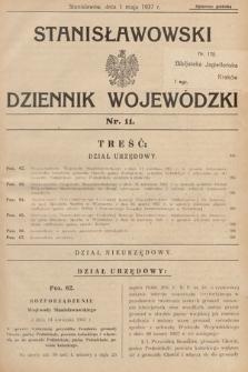 Stanisławowski Dziennik Wojewódzki. 1937, nr11