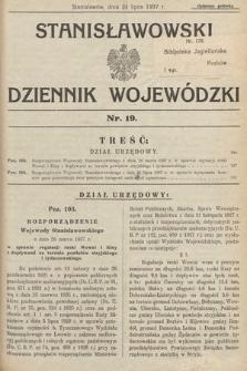 Stanisławowski Dziennik Wojewódzki. 1937, nr19