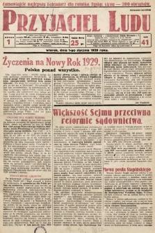 Przyjaciel Ludu. 1929, nr1