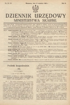 Dziennik Urzędowy Ministerstwa Skarbu. 1920, nr32-33