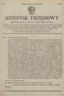 Dziennik Urzędowy Ministerstwa Spraw Wewnętrznych. 1923, nr3