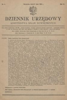 Dziennik Urzędowy Ministerstwa Spraw Wewnętrznych. 1923, nr4