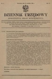 Dziennik Urzędowy Ministerstwa Spraw Wewnętrznych. 1923, nr5