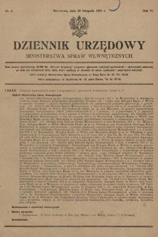 Dziennik Urzędowy Ministerstwa Spraw Wewnętrznych. 1923, nr6