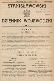 Stanisławowski Dziennik Wojewódzki. 1939, nr5