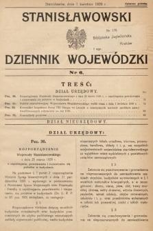 Stanisławowski Dziennik Wojewódzki. 1939, nr6