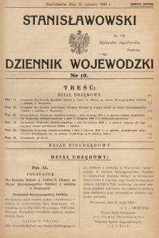 Stanisławowski Dziennik Wojewódzki. 1939, nr10