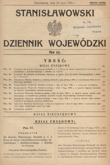 Stanisławowski Dziennik Wojewódzki. 1939, nr11